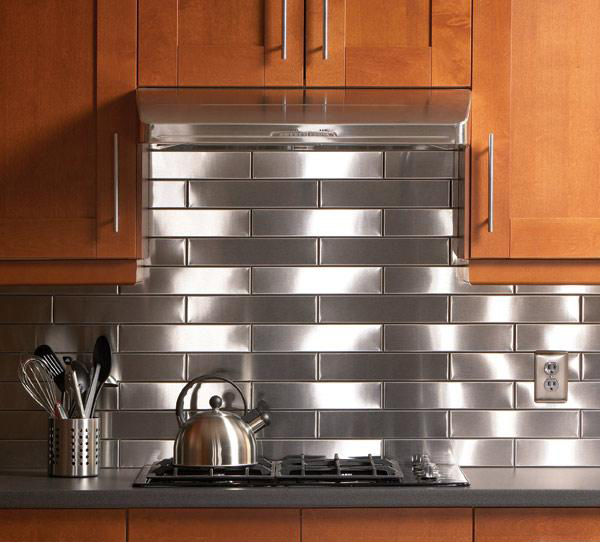 Create Your Own Stainless Steel Backsplash in the Kitchen