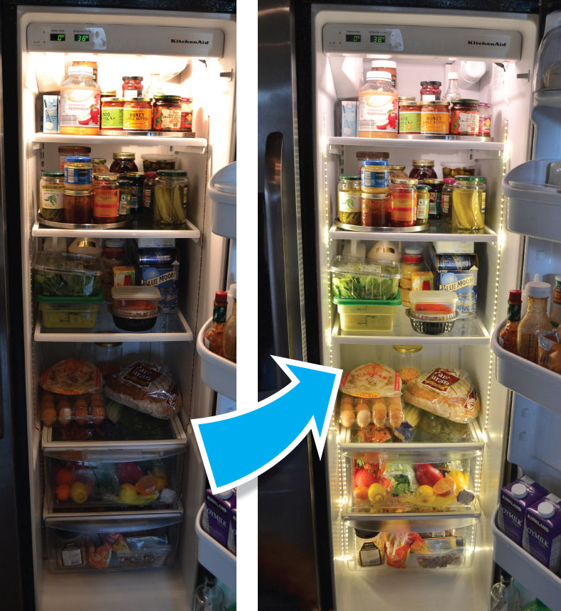 Install Led Tape In Your Refrigerator For High End