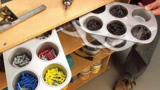 Organize Your Hardware with Muffin Tins During Your Appliance Repairs