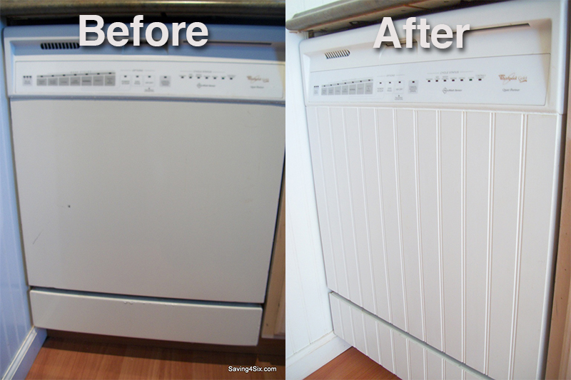 Beau Give Your Old Dishwasher A New Makeover To Match Your Kitchen Cabinets