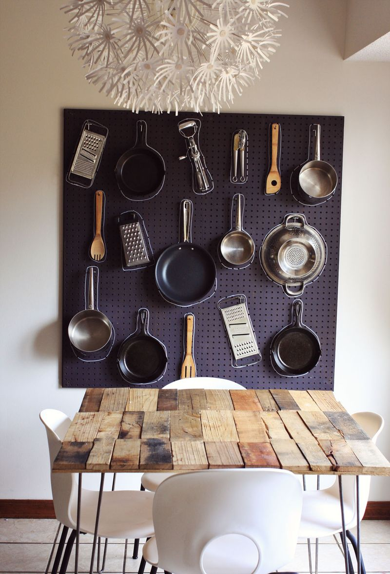 Save Storage Space with a DIY Kitchen Pegboard (Wall ...