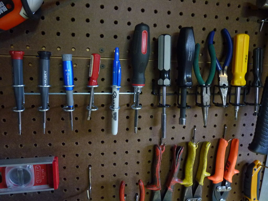 Organize Your Tools Today Diy Customizable Pegboard Tool