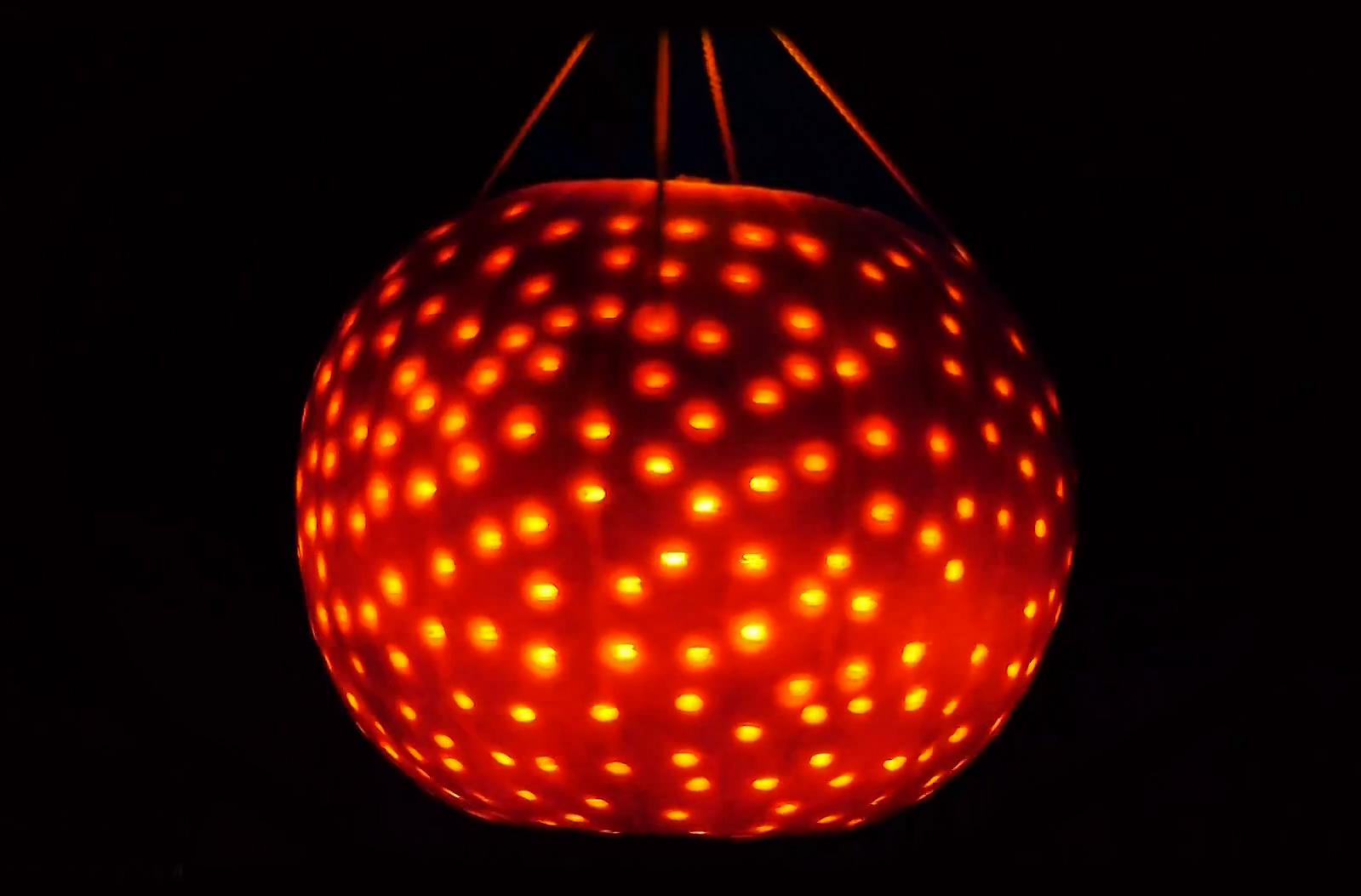 How To Easily Make A Pumpkin Disco Ball Light Appliance