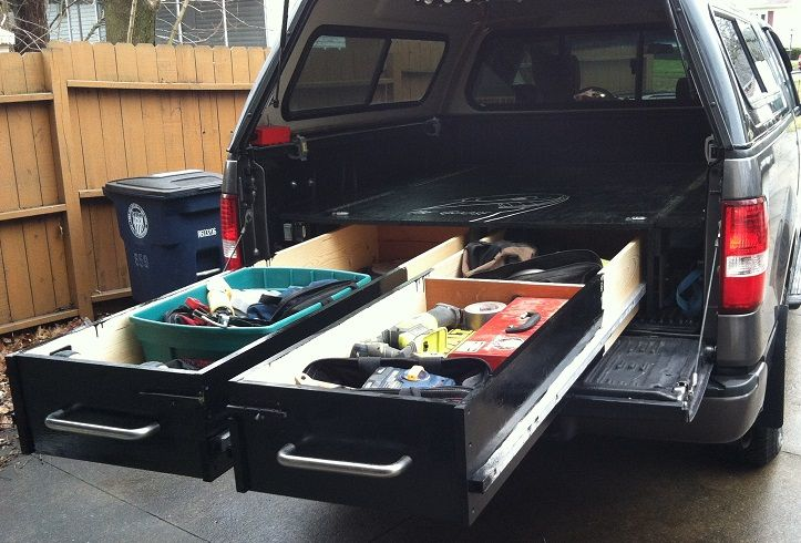 Build Drawers In Your Truck Bed For Heavy Duty Tool