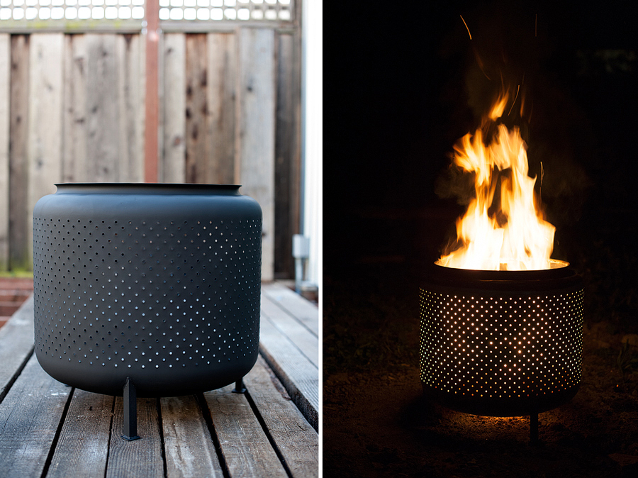 Transform An Old Washer Drum Into An Outdoor Fire Pit