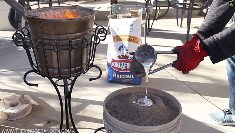 Melt Soda Cans with This Disguised Backyard Foundry ...