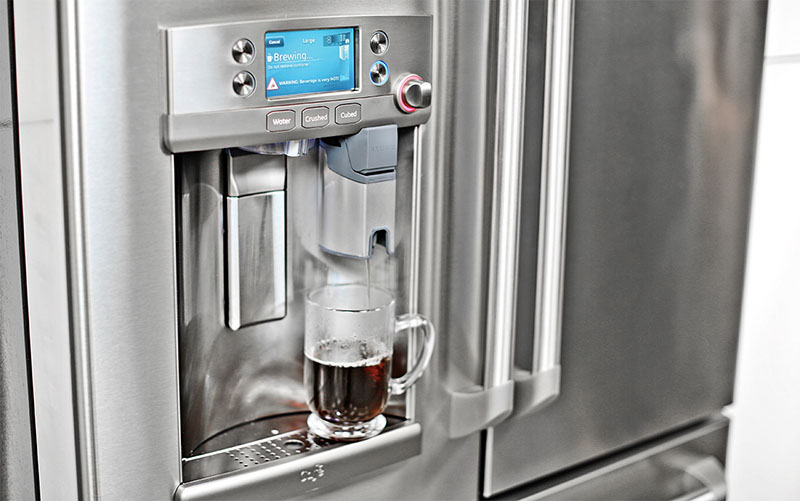 Brew a Cup of Coffee with GE s Built-In Keurig Refrigerator Appliance Video