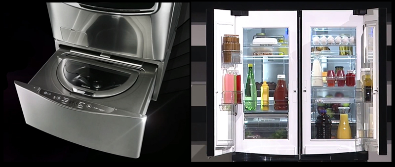 Lg Shows Off Twin Wash System And Multi Door Refrigerator