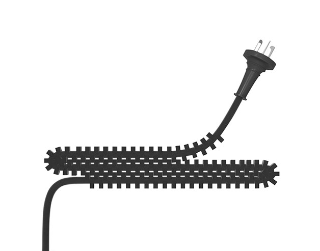 Interlocking Electric Cord Keeps Itself Tidy so You Don't Have To