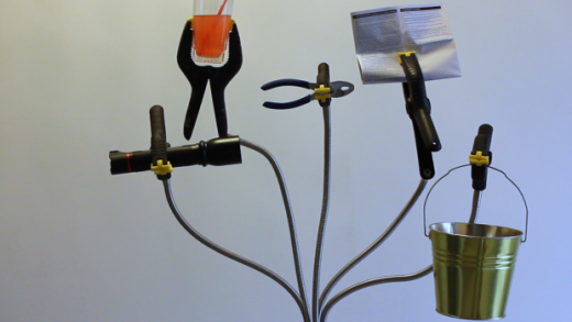 Mod a Floor Lamp into a Helping Hands Tool with Spring Clamps