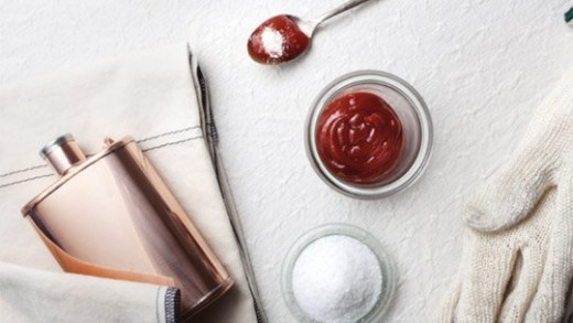 Clean Copper Pans with Ketchup and Salt