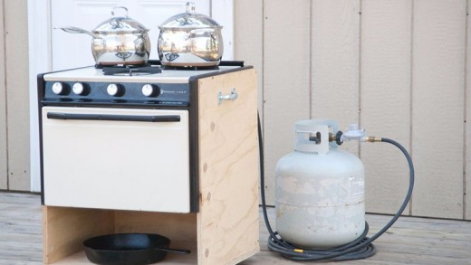 Build a Portable Off Grid Stove with Scrap Parts