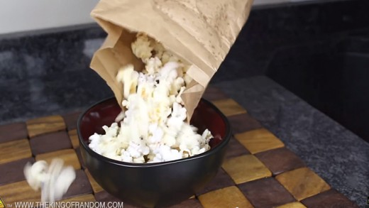Pop Homemade Kettle Corn in the Microwave with a Paper Bag