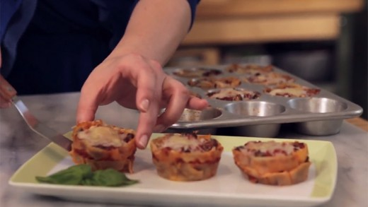 Bake Lasagna Into Bite-Sized Cups with a Muffin Tin