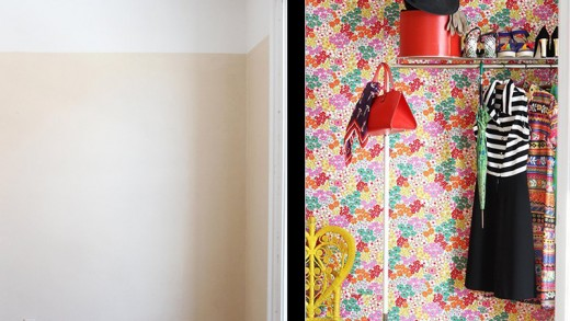 Apply Fabric to Walls with Liquid Starch for Temporary Wallpaper