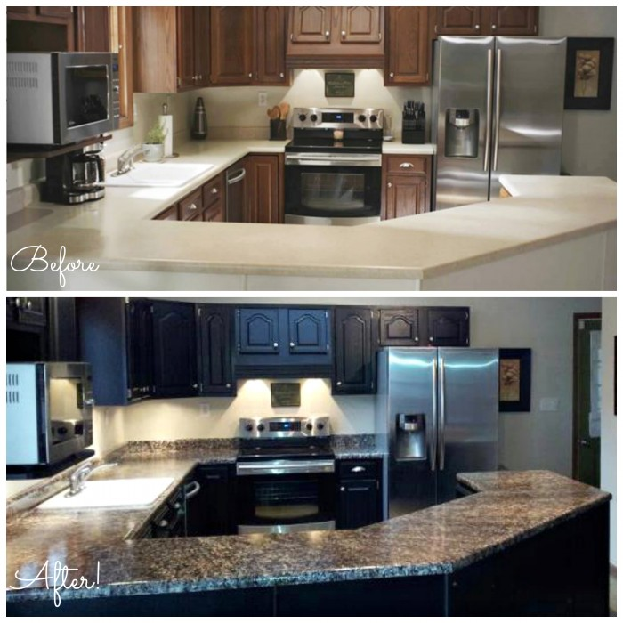 Before And After Granite Diy Countertops