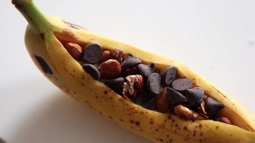 Microwave a Banana Boat in its Peel for a Delicious Snack