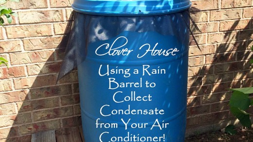 Collect Gallons of Water from an Air Conditioner with a Rain Barrel