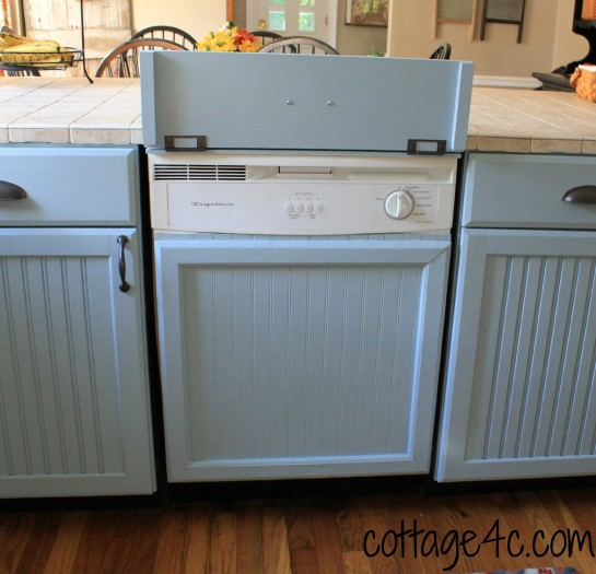 """Makeover Your Dishwasher to Look Like """"Built-in"""" Cabinetry"""