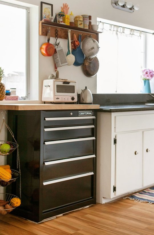 Add More Vertical Space In A Small Kitchen With A Tool Cart Appliance Video