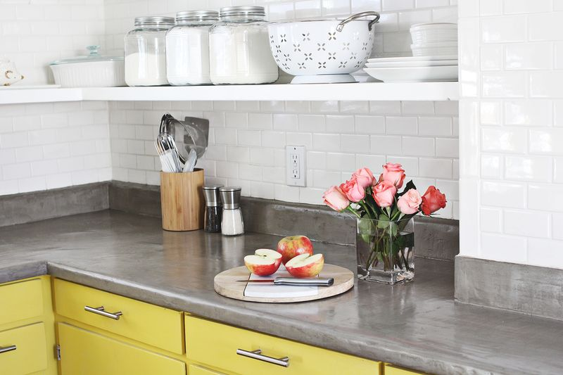 Marvelous Upgrade Your Kitchen With A No Pour Concrete Countertop