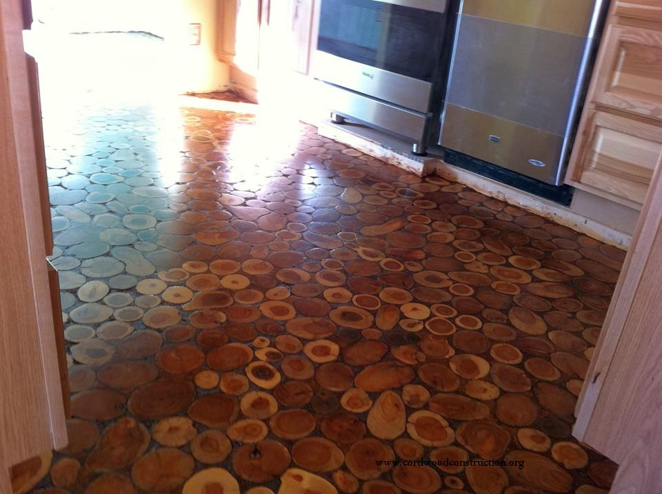 How to Make a Cordwood Floor