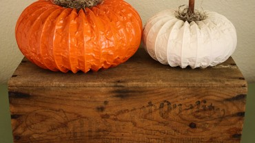 DIY Dryer Vent Pumpkin Decorations