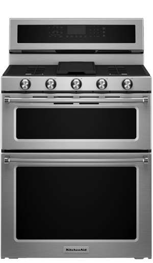 Kitchenaid Kers505xbl Double Oven Range Appliance Video