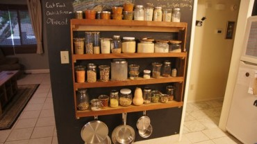 Make a Dry Goods Shelf from Reclaimed Wood