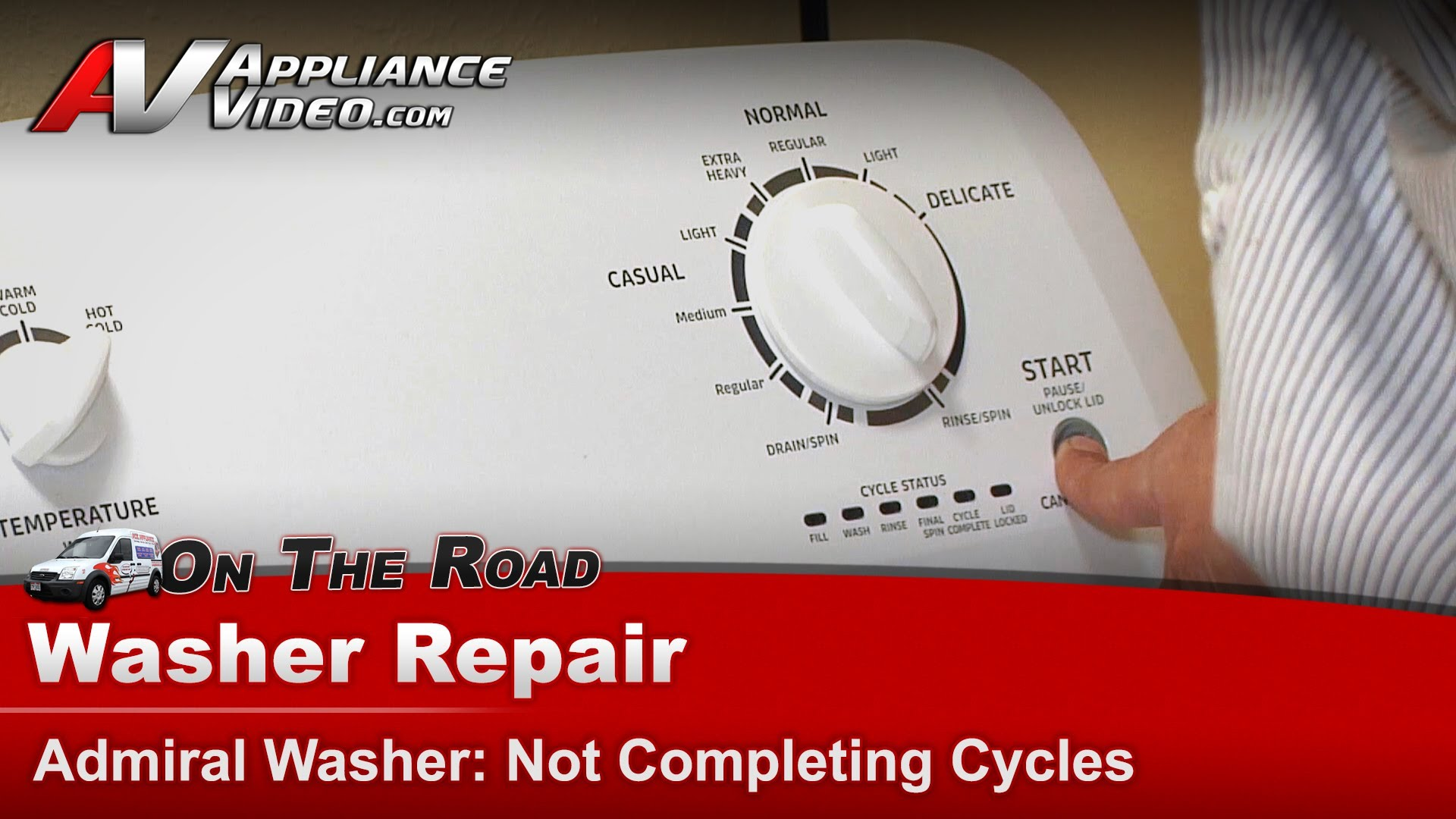 Admiral ATW4675YQ0 Washer Repair – Not completing cycles – Mode ...