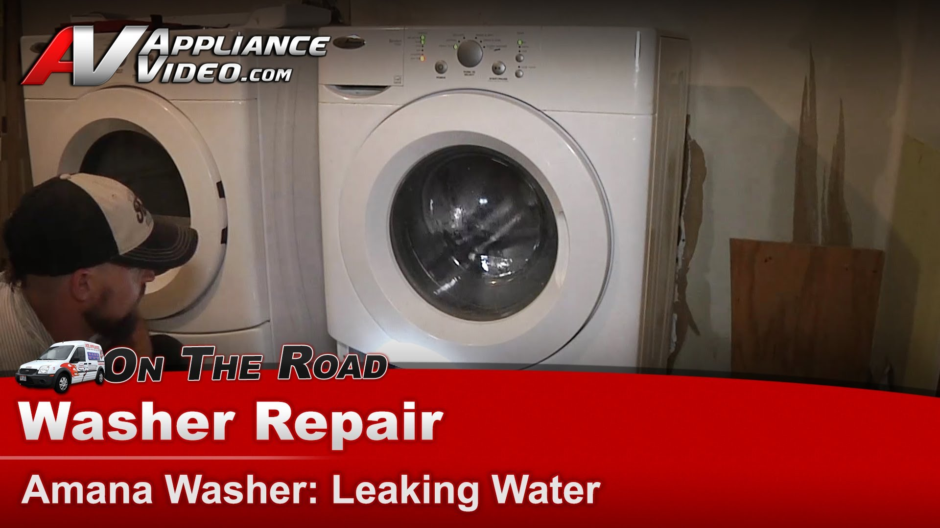 Amana NFW7300WW Washer Repair – Leaking water – Bellow | Appliance Video