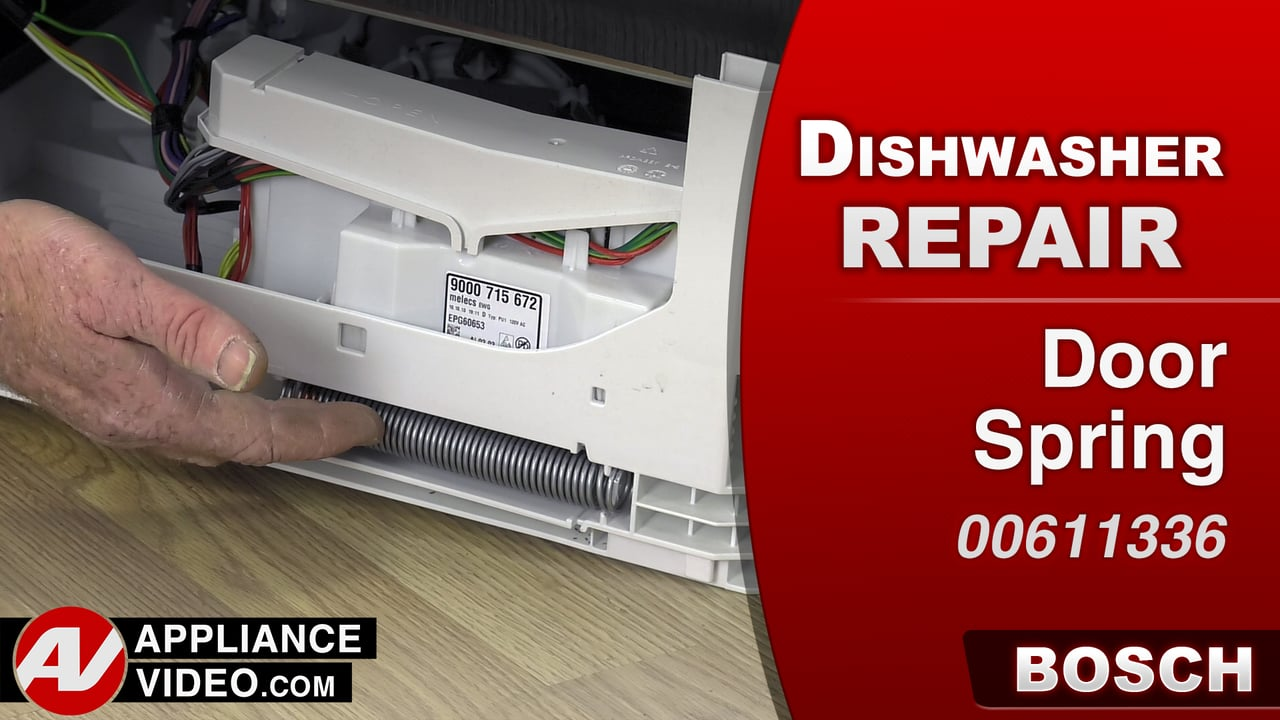 Bosch SHE7PT52UC Dishwasher – Door stays open – Door Spring