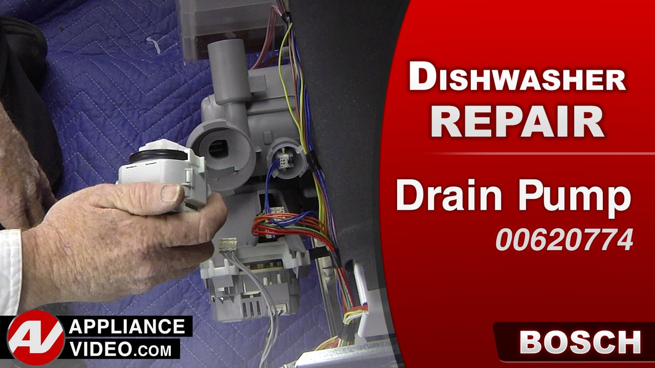 Bosch she7pt52uc dishwasher will not drain drain pump appliance video - Bosch dishwasher pump not draining ...