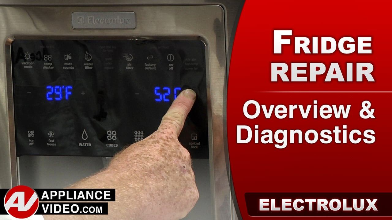 Electrolux EI23BC35KS Refrigerator – Overview & Diagnostic