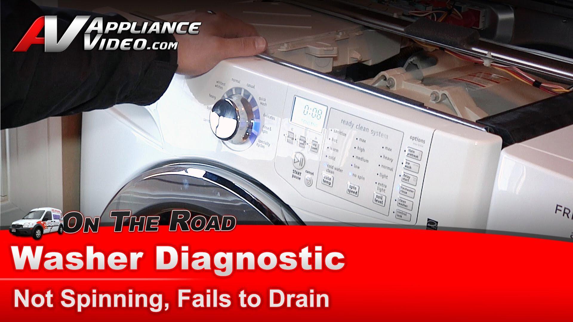 Frigidaire Fafs4474lwo Washer Diagnostic Has An Odd
