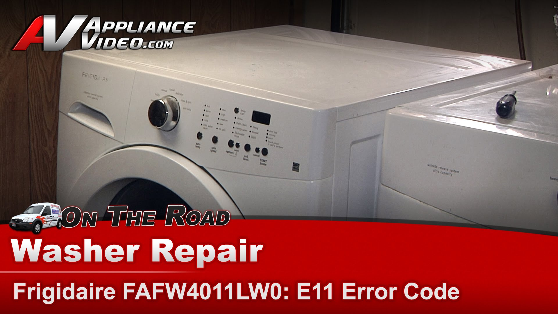 Frigidaire FAFW4011LW0 Washer – Not spinning on heavy loads – Electronic  Control | Appliance Video