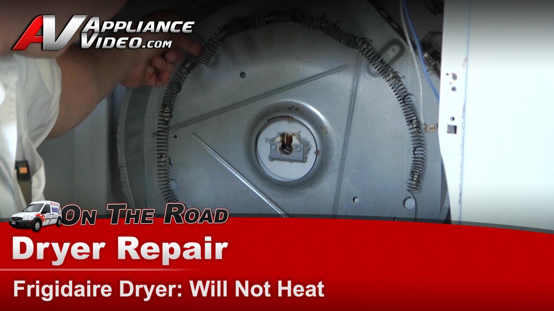 Frigidaire Gler331as1 Dryer Repair Will Not Heat Heating