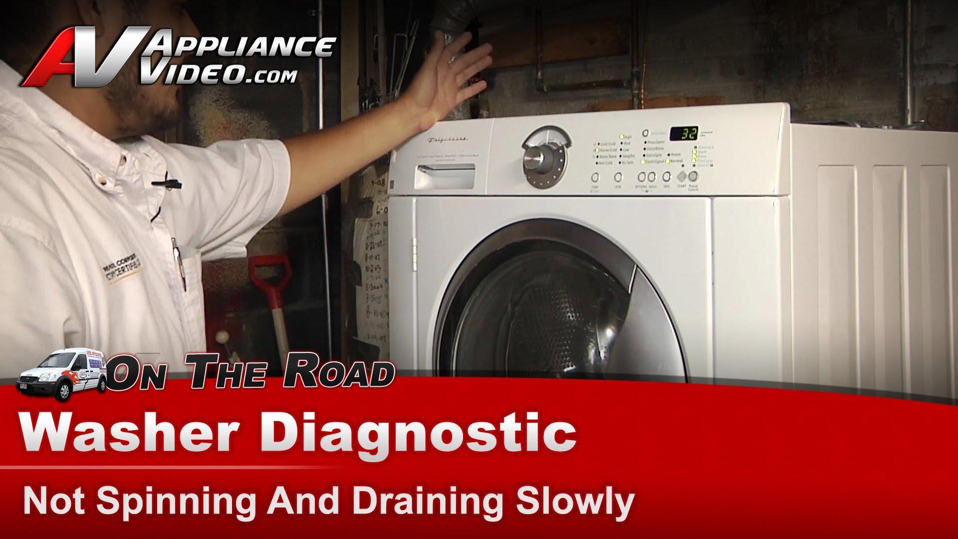 Frigidaire Glt52940fs2 Washer Diagnostic Not Spinning