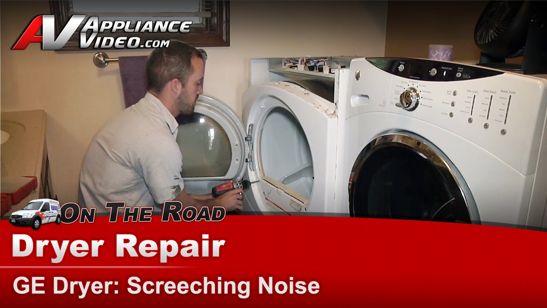 Ge Dcvh515ef0ww Dryer Repair Screeching Noise Upper