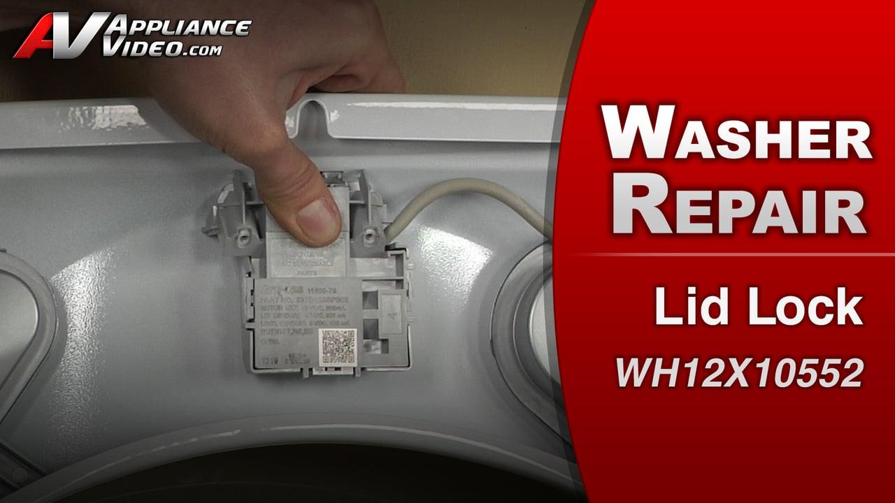 GE GTWS8650DWS Washer – Lid will not lock – Lid Switch Lock Motor