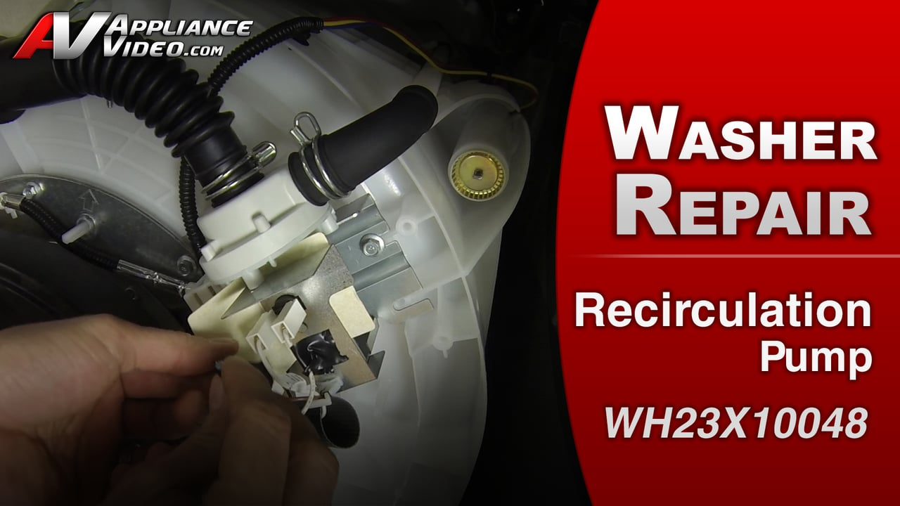 GE GTWS8650DWS Washer – Washer will not drain all the way – Recirculation-Pump