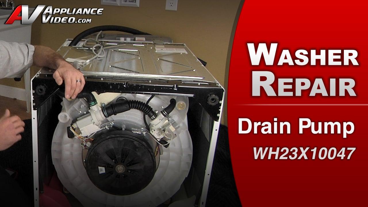 GE GTWS8650DWS Washer – Water will not drain – Drain-Pump