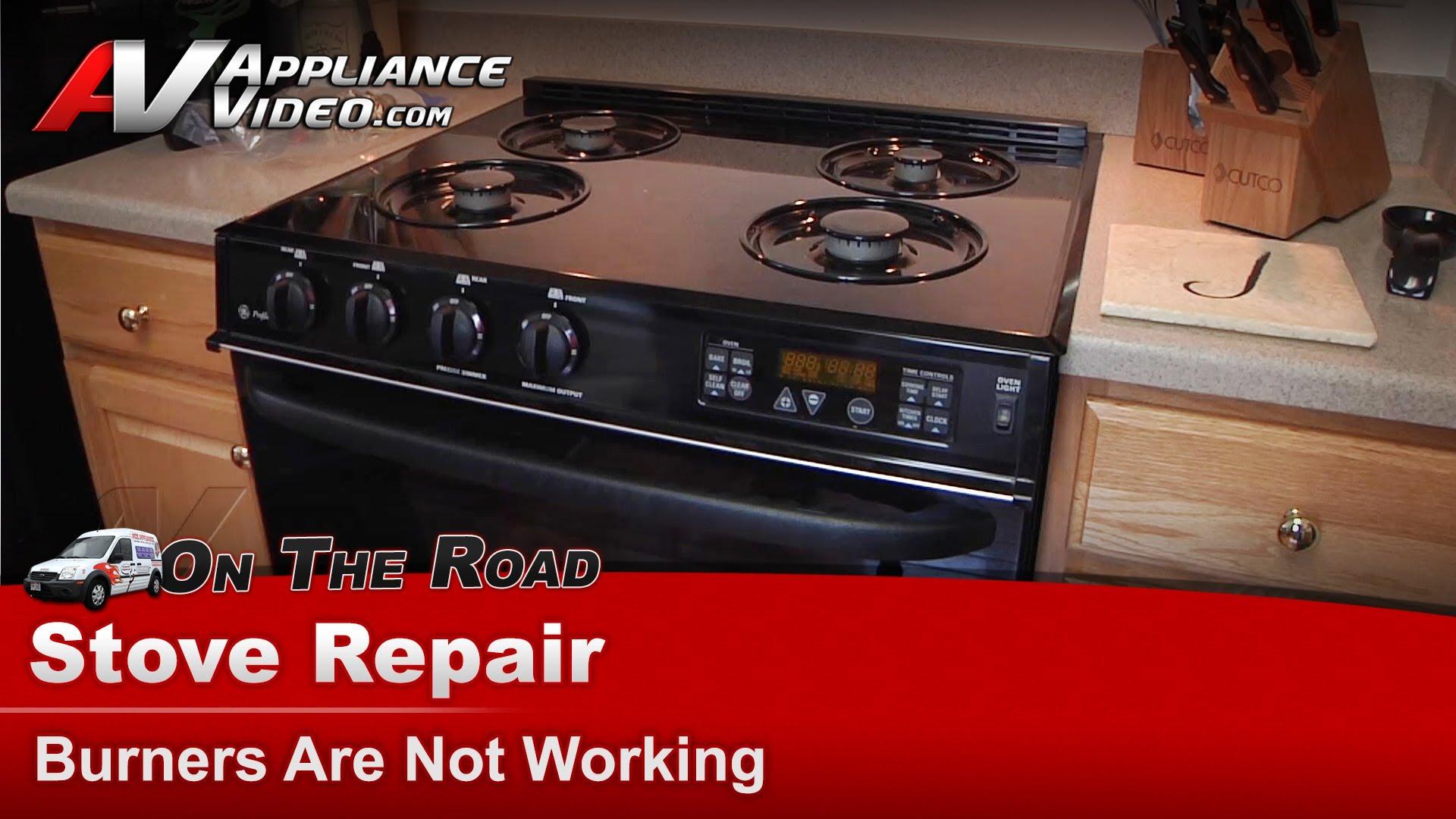 Ge Jgsp44bey3bb Stove Repair Burner Is Not Working
