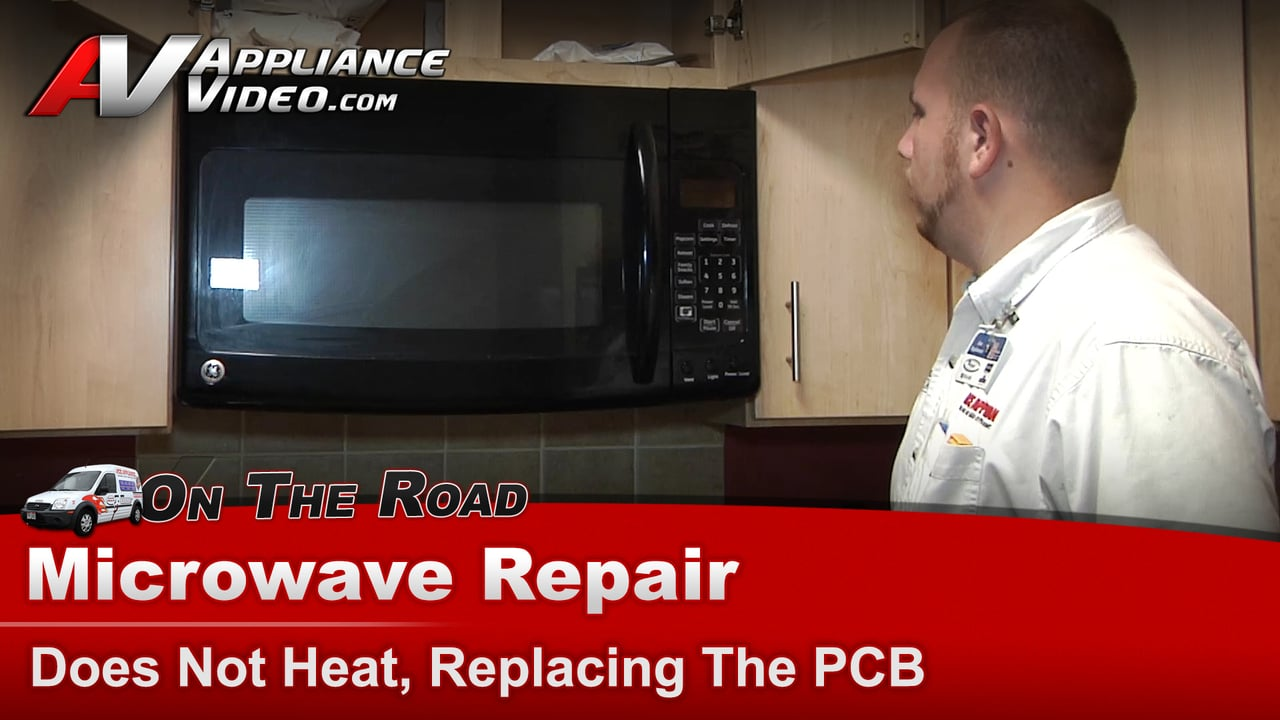 ge jnm1951dr1bb microwave repair does not heat replacing the pcb main power board. Black Bedroom Furniture Sets. Home Design Ideas