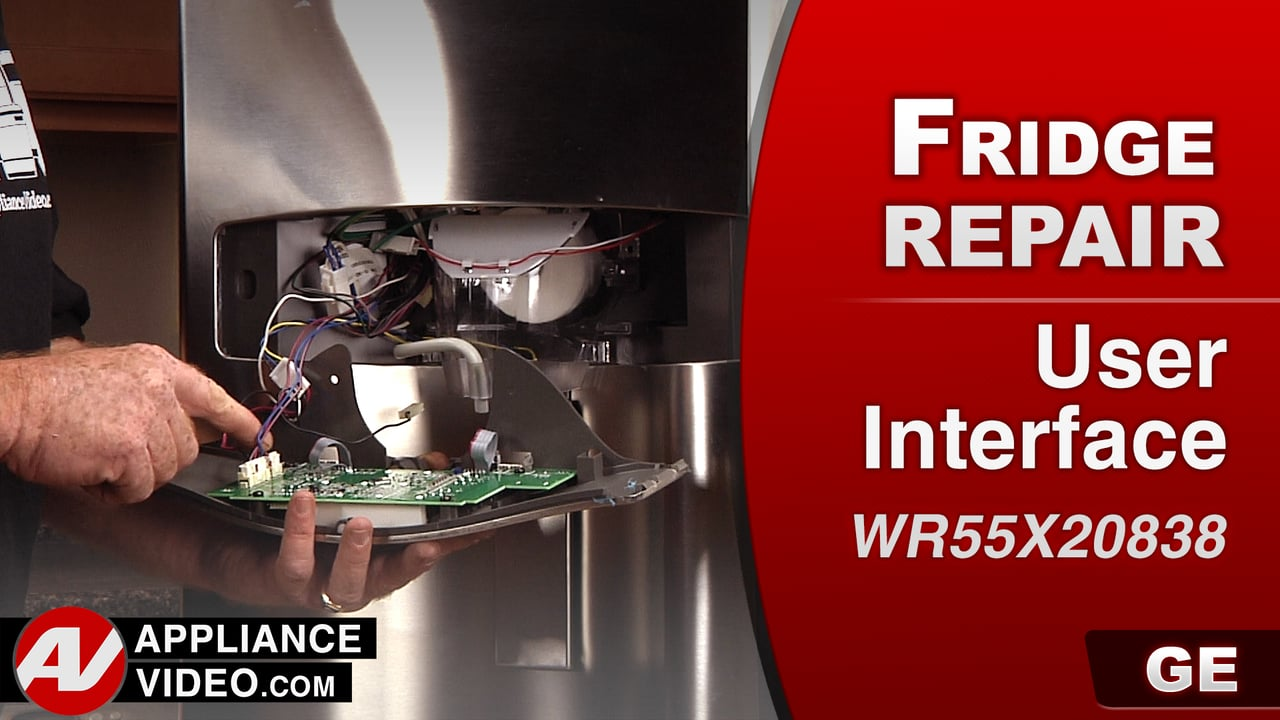 GE PFE27KSDDSS Refrigerator – Display will not turn on – UI & Display Board