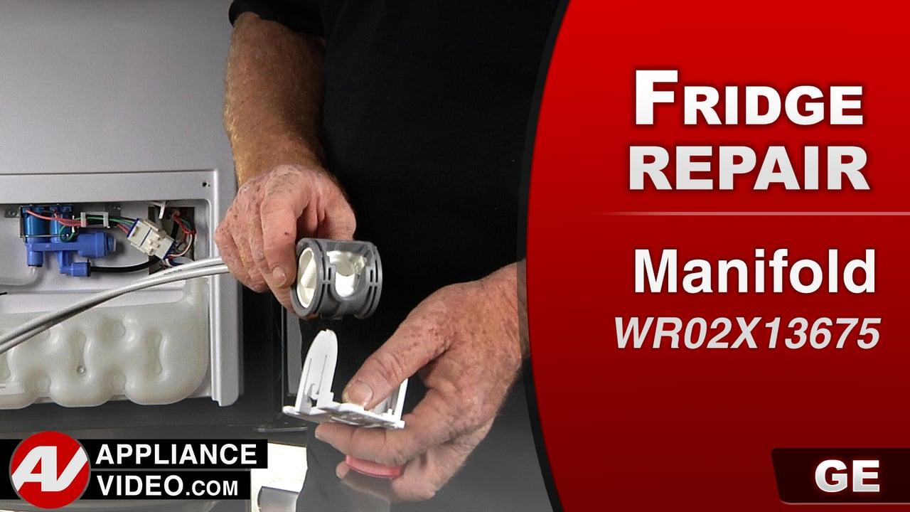 GE PFE27KSDDSS Refrigerator – Leaking water – Manifold