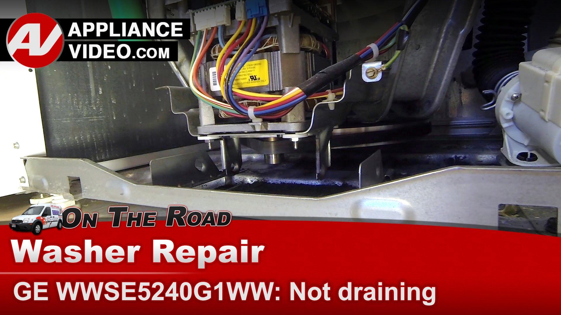 GE WWSE5240G1WW Washer – Not draining – Belt 6 Rib | Appliance Video