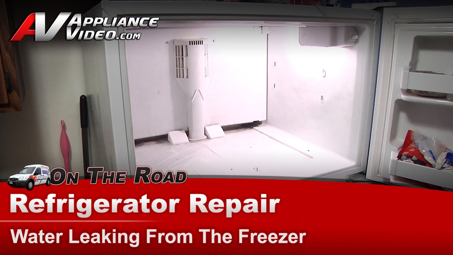 Kenmore Refrigerator Repair >> Kenmore 10677292790 Refrigerator Repair – Water leaking from the freezer – Evaporator Drain Pan ...