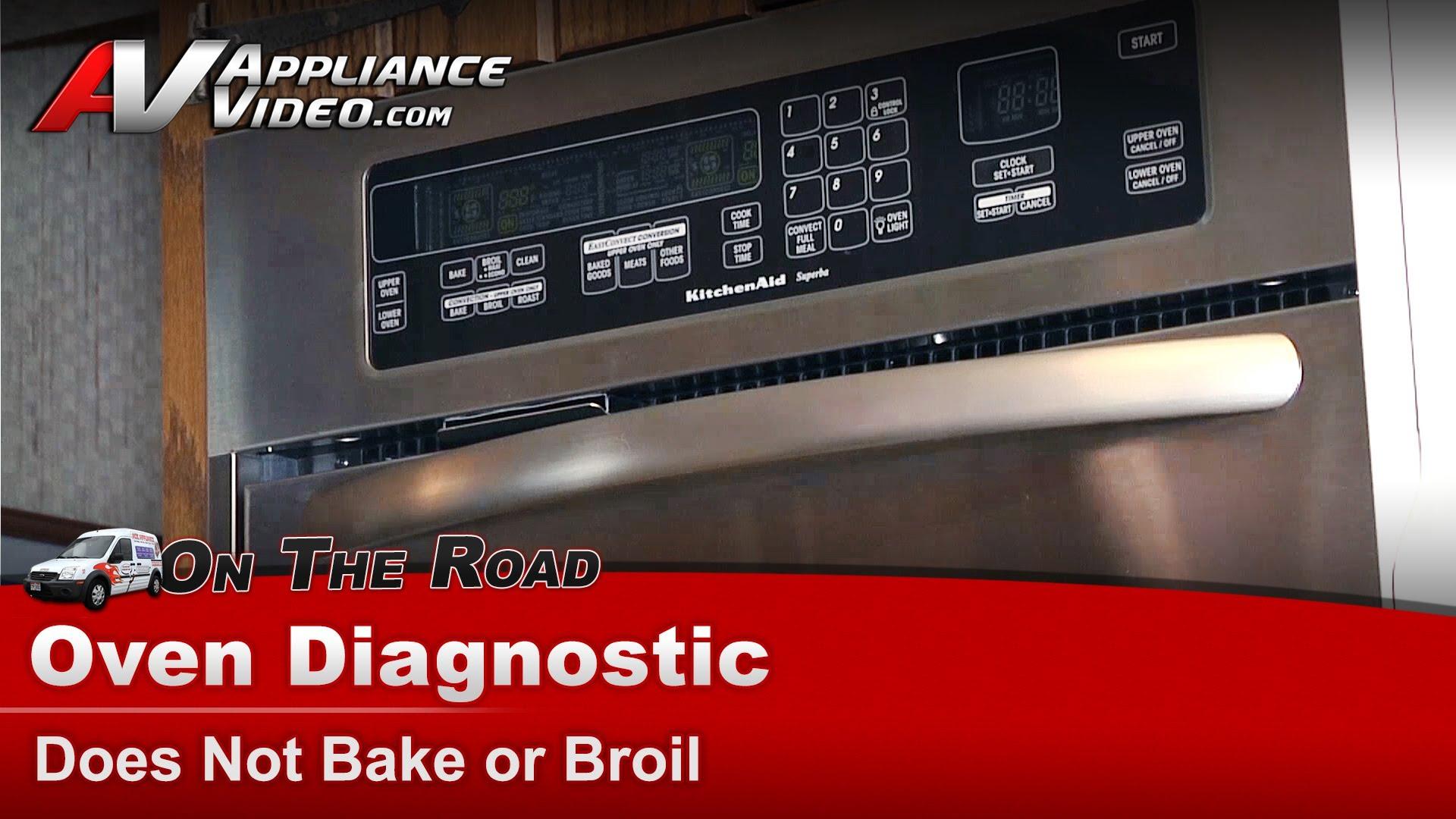 Kitchenaid Kebc247vss02 Oven Diagnostic Does Not Bake Or