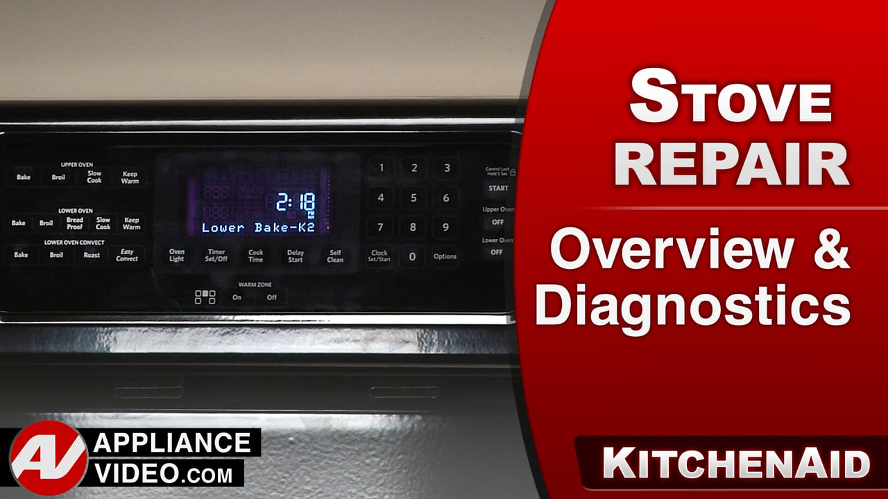 KitchenAid KERS505XBL Stove – Overview & Diagnostic